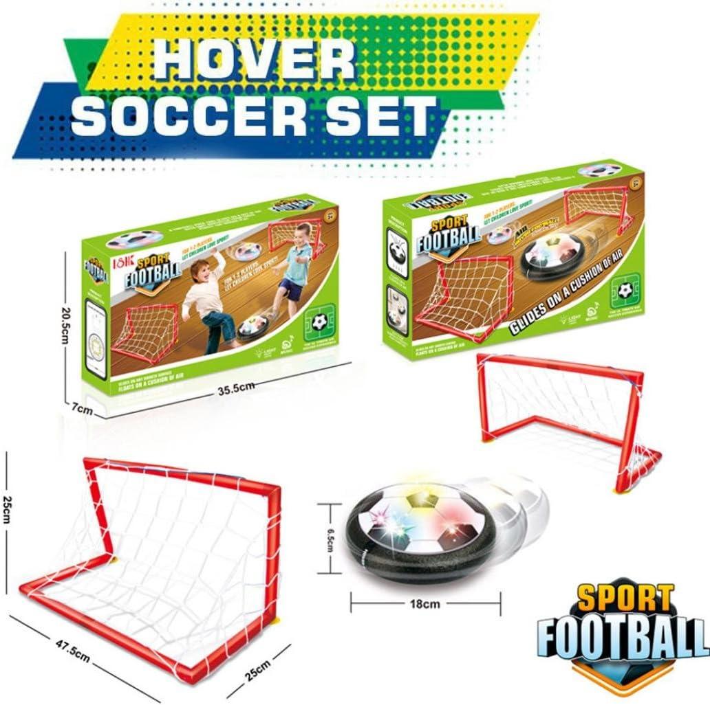 PLOT - Juego de portería de fútbol LED para entrenamiento de aire ...