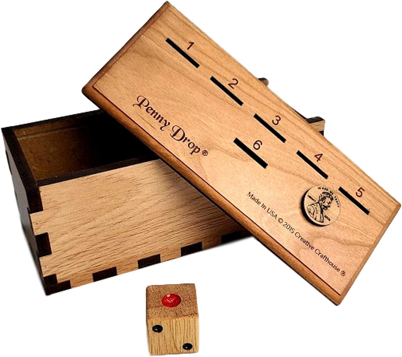 maple top with hardwood box Penny Drop II game