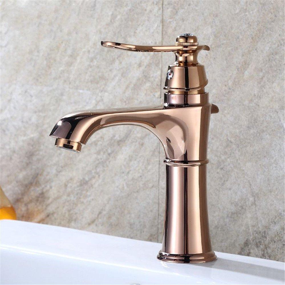 MMYNL TAPS MMYNL Waschtischarmatur Bad Mischbatterie Badarmatur Waschbecken Antike heiße und kalte Kreative Champagne Gold Badezimmer Waschtischmischer
