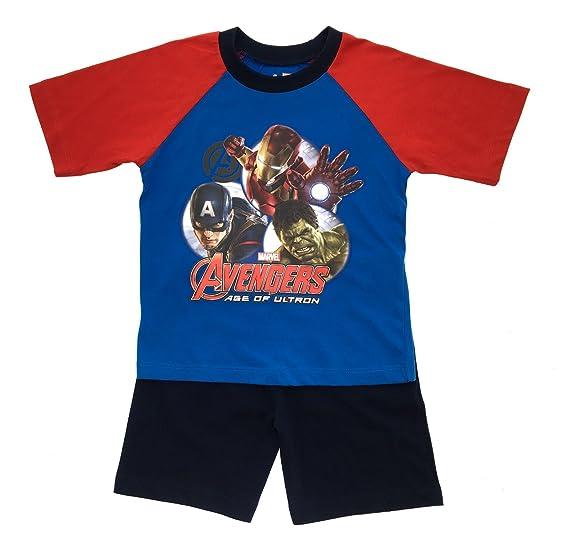 ddf0b457dae Amazon.com: Marvel Avengers Boys Short Pyjamas Pjs: Clothing