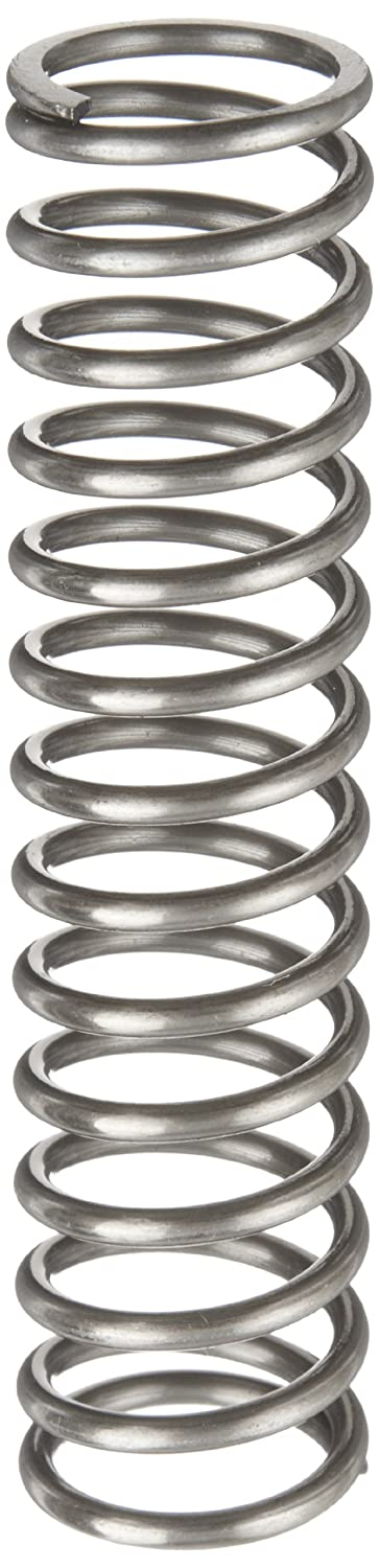 Pack of 10 Music Wire Compression Spring 1.25 Free Length 0.83 Compressed Length Inch 76.7 lbs//in Spring Rate 0.105 Wire Size 0.975 OD 32.19 lbs Load Capacity Steel