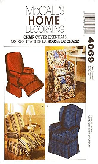 OOP McCallu0027s Home Decorating Pattern 4069. Chair Covers For: Directors Chair;  Wingback Chair
