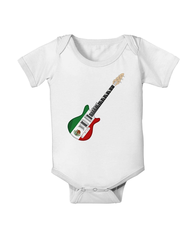 TooLoud Mexican Flag Guitar Design Baby Romper Bodysuit