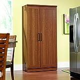 Sauder Home Plus Storage Cabinet with Sienna Oak Finish