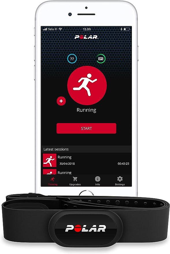 Polar H10 - Sensor de Frecuencia cardíaca Bluetooth con banda pectoral - Negro, XS-S: Amazon.es: Deportes y aire libre