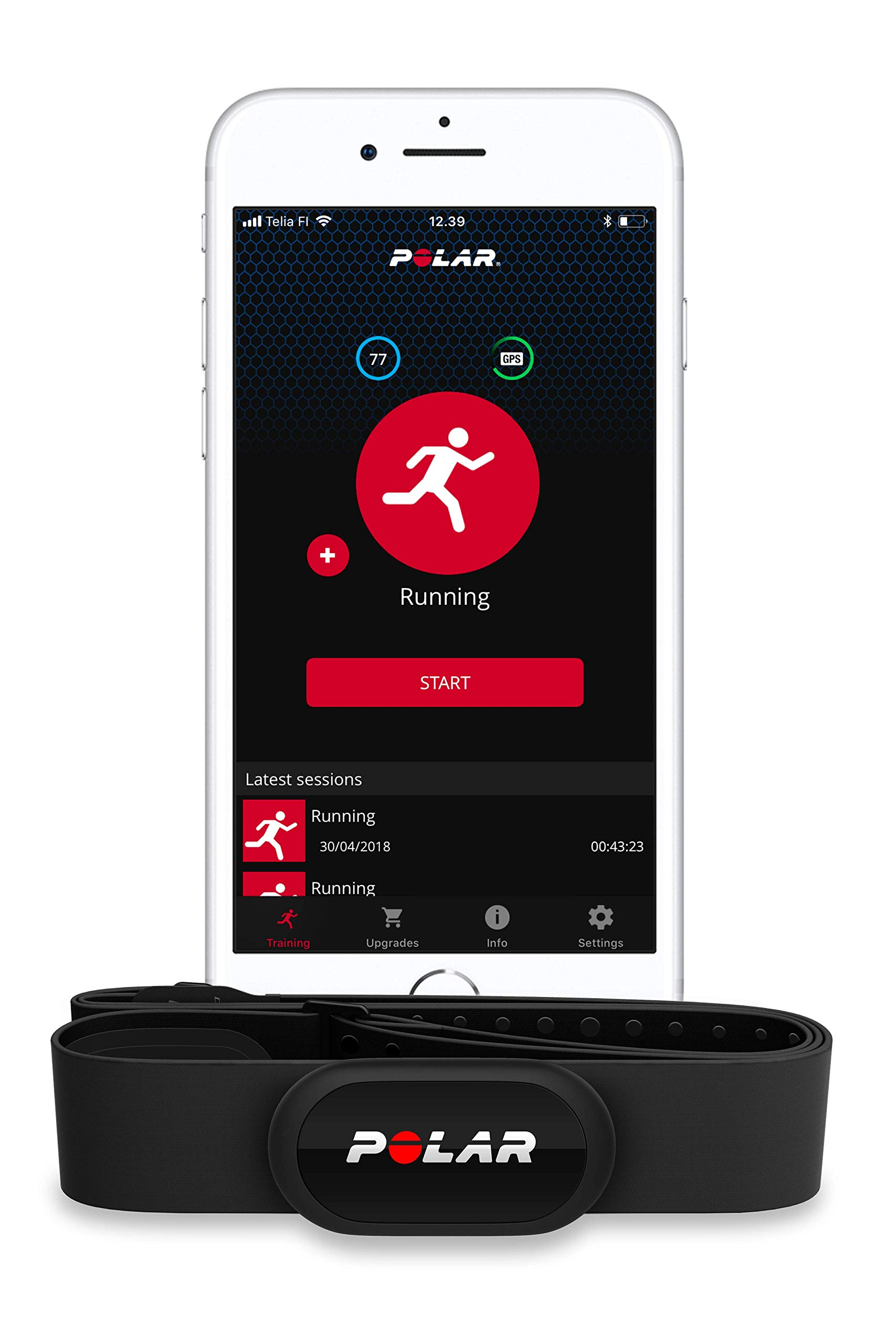 Polar H10 Heart Rate Monitor for Men and Women – ANT +, Bluetooth, ECG/EKG - Waterproof HR Sensor with Chest Strap by Polar (Image #3)