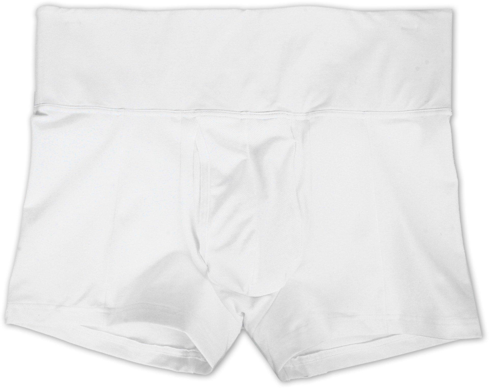 SPANX for Men Men's Slim-Waist Trunk, White, LG by SPANX