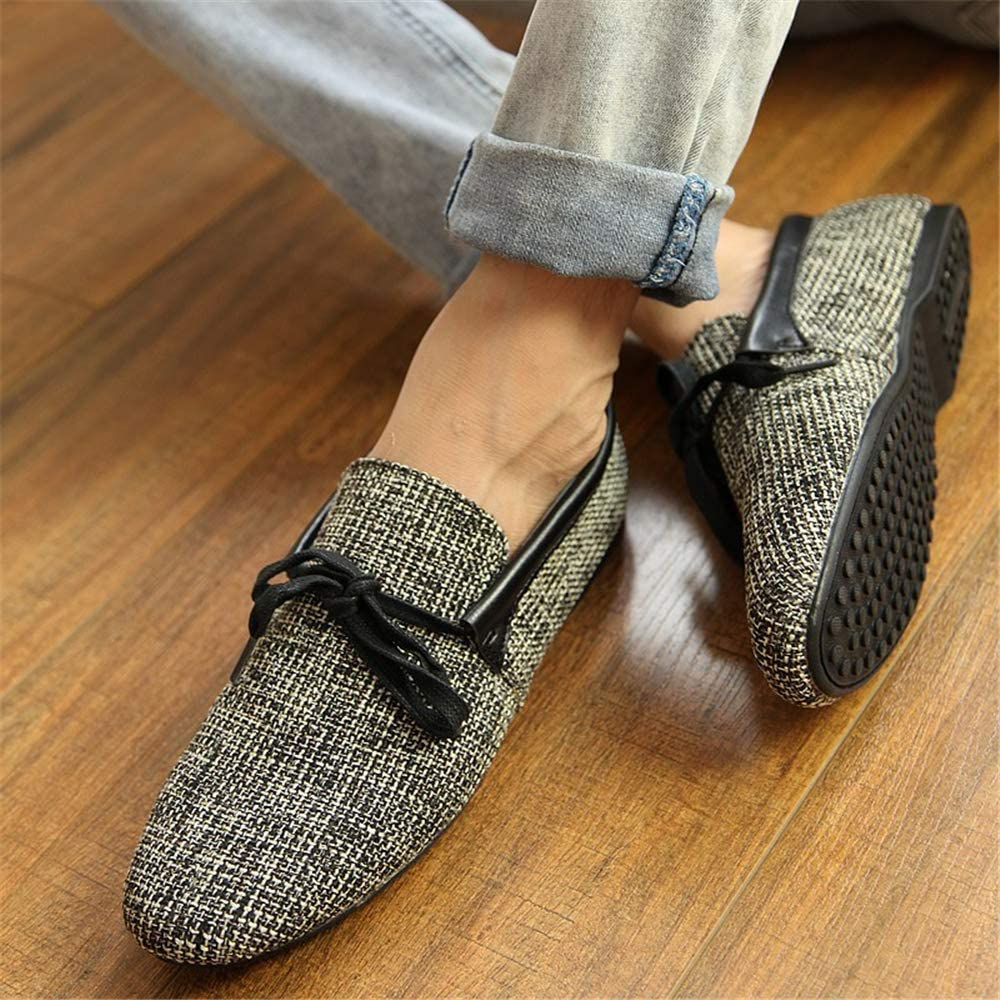 Mens Casual Loafer Slip-on Moccasin Boat Shoes Flat Driving Shoes Grey-Lable 39//6 D M US Men
