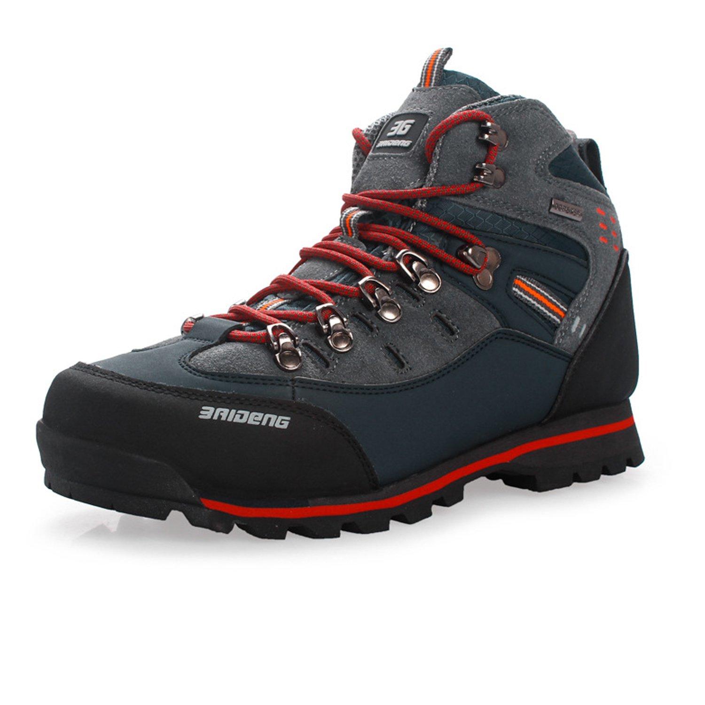 Dewuseller Warm Männer Hoch Trekking Wanderschuhe mit Schnürsenkel, Leichte Wasserdicht Atmungsaktiv Winter Herren Outdoor Wanderstiefel
