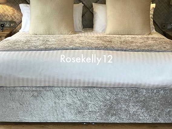 stile contemporaneo effetto pelle 121,9 cm 1 piazza e mezza 50,8 cm Silver Testiera per letto in velluto goffrato