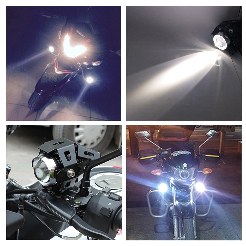 Prozor Motorrad-Front-Scheinwerfer mit 3-Weg-Schalter, 2 Stück, 125 ...