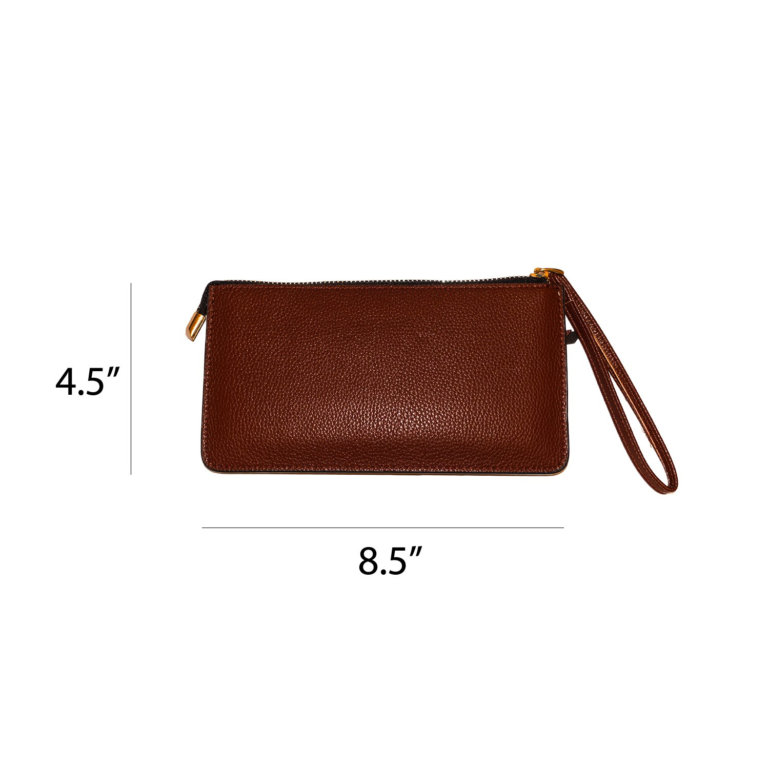 Carter Leatherworks Rodeo Womens PU Vegan Leather Wristlet Wallet Clutch Purse Fits Any Smartphone (Coffee) by Carter Leatherworks (Image #3)