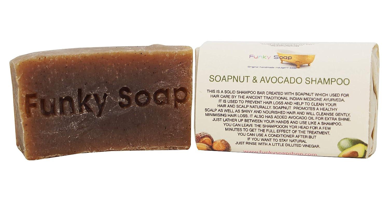 Handcrafted Soapnut and Avocado Shampoo Bar 65g