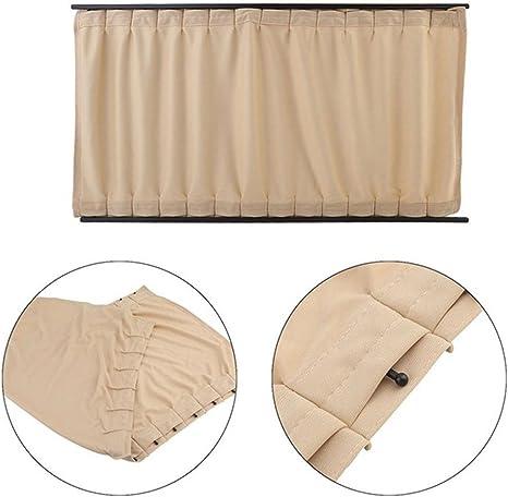 L beige beige Talla:50L stears 2/piezas//juego de aluminio aleaci/ón el/ástica Auto ventana lateral Protector Solar cortinas Windows cortina parasol Jalousien protectora auto de Styling S