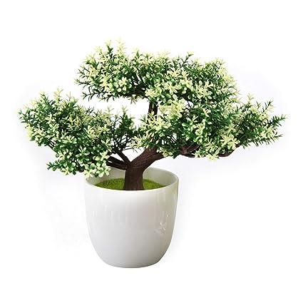 Yoerm Bonsai Tree Indoor Small Artificial Plants For Home Decor Office Desk Vivid
