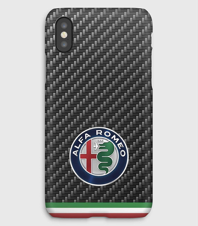 Carbon Alfa Romeo Funda para el iPhone XS, XS Max, XR, X, 8, 8+, 7, 7+, 6S, 6, 6S+, 6+, 5C, 5, 5S, 5SE, 4S, 4,