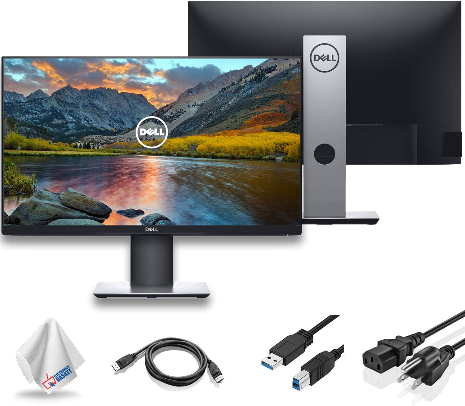 "Dell P2719H 27"" 16:9 Ultrathin Bezel IPS Monitor (P2719H) with Microfiber Cleaning Cloth - 1 - Pack"