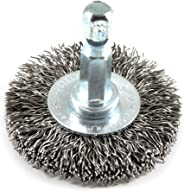 Forney 72725 Wire Wheel Brush, Coarse Crimped with 1/4-Inch Hex Shank, 1-1/2-Inch by .012-Inch