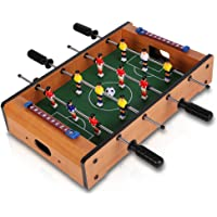 OOLIOS Tabletop Foosball Table- Portable Mini Table Football / Soccer Game Set with Two Balls and Score Keeper for Adults and Kids