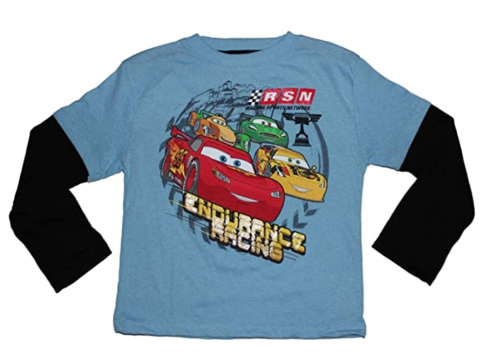 Disney Pixar Cars Endurance Racing Little Boys Long Sleeve Shirt 2T-4T (2T) bed4826df
