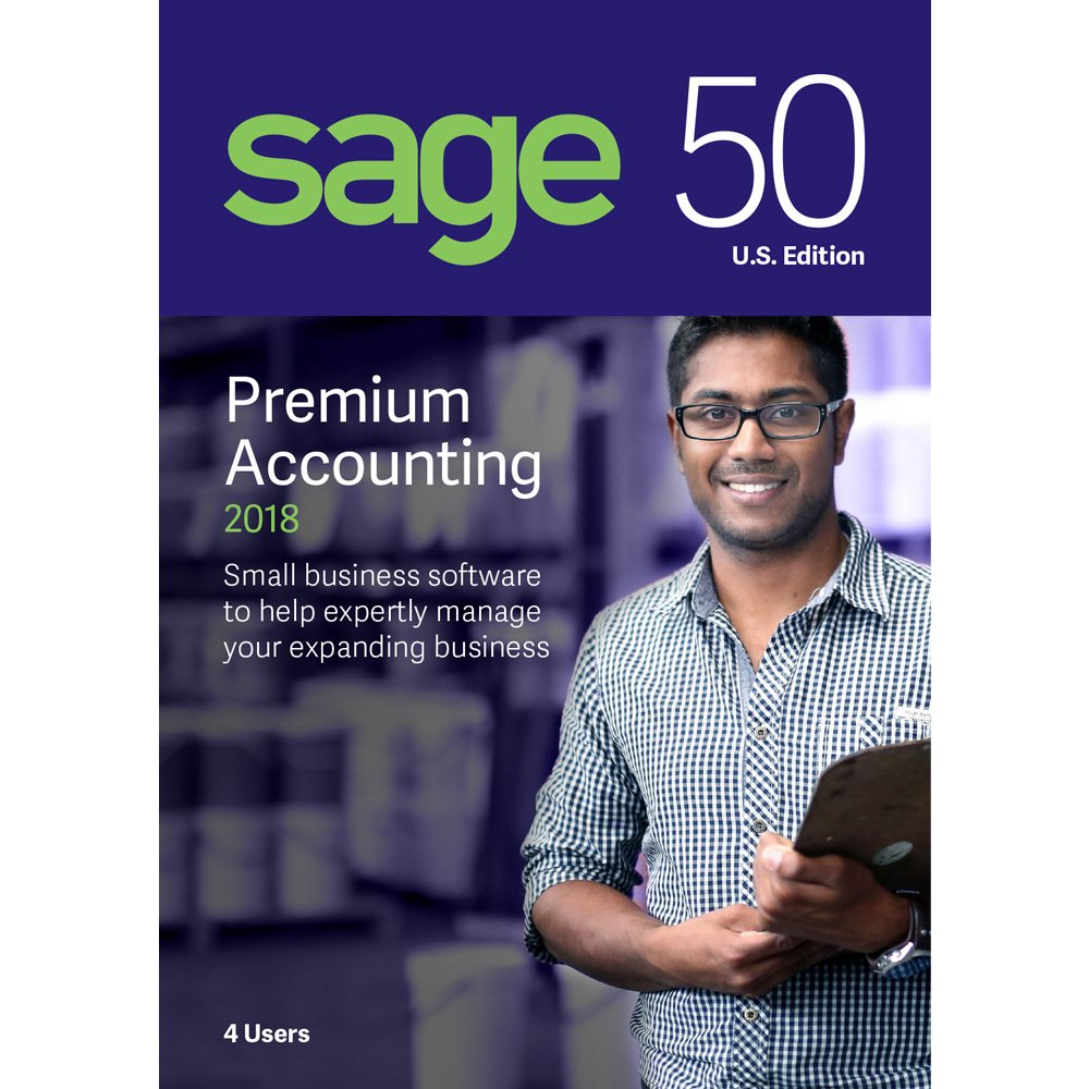 Sage Software Sage 50 Premium Accounting 2018 U.S. 4-User (4-Users) by Sage Software