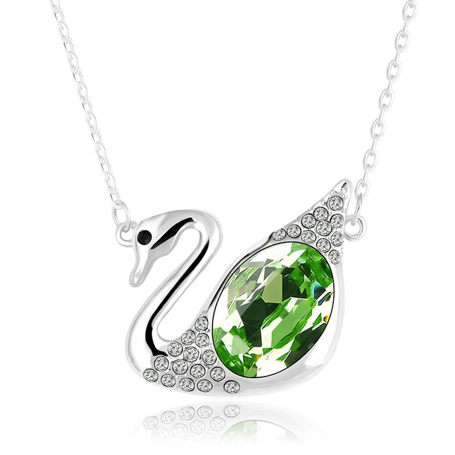 Collocation-Online 2018 high-end Crystal Jewelry Manufacturers Exquisite Swan Necklace hot New Money Ornaments