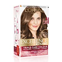 L'Oreal Paris Excellence Creme Hair Color, 6 Natural Light Brown(72ml+100g)