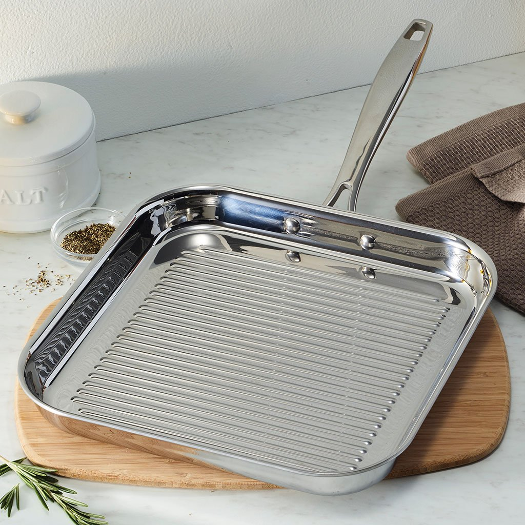 Tramontina 80116/072DS Grill Pan, 11 Inch, Stainless Steel by Tramontina (Image #4)