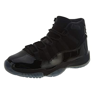 pretty nice 33a95 506a2 Nike Mens Air Jordan 11 Retro Cap and Gown Black Black-Black Suede Size