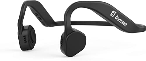 Damson HeadBones X – Wireless Bluetooth Bone Conduction Headphones with Built-in Microphone – Water and Sweat Resistant Black