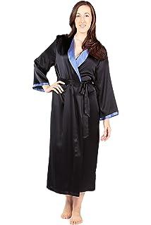 2cb0247aa4 TexereSilk Women s Luxury Long Silk Bathrobe - Sleepwear Robe (Beautibliss)