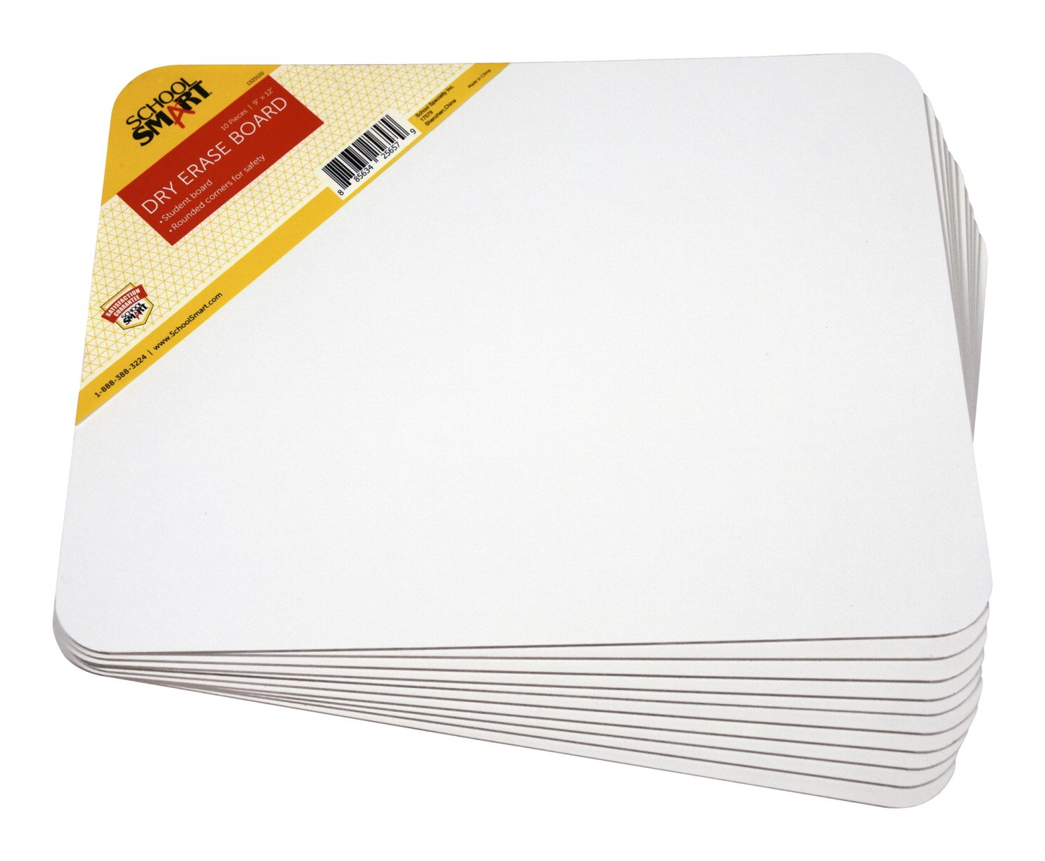 School Smart Dry Erase Unruled Pupil Boards - 9 x 12 - Set of 10
