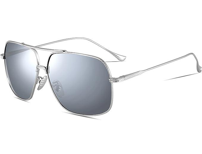 2463bfc7951 ATTCL Men s HD Polarized Navigator Aviator Sunglasses for Men Driving  Fishing Golf T005 Shuiyin