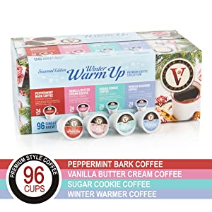 Winter Warm Up Seasonal Editionfor K-Cup Keurig 2.0 Brewers, 96 Count Victor Allen's Coffee Single Serve Coffee Pods