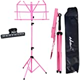 ADM Music Stand Folding Lightweight Sheet Music Stand & Desktop Stand Easy to Set Collapsible Adjustable Orchestra Portable w