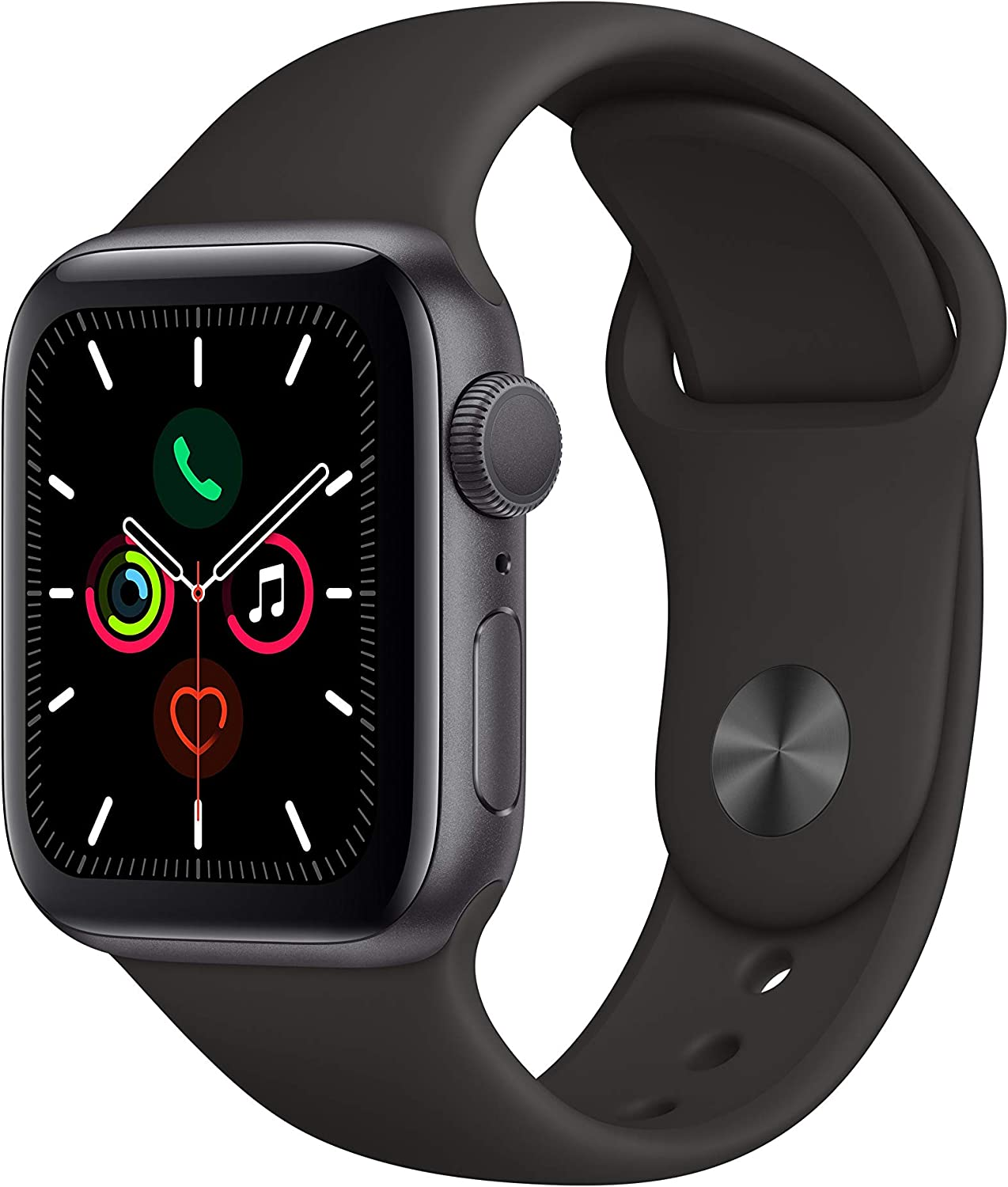 Amazon.com: Apple Watch Series 5 (GPS, 40mm) - Space Gray Aluminum ...