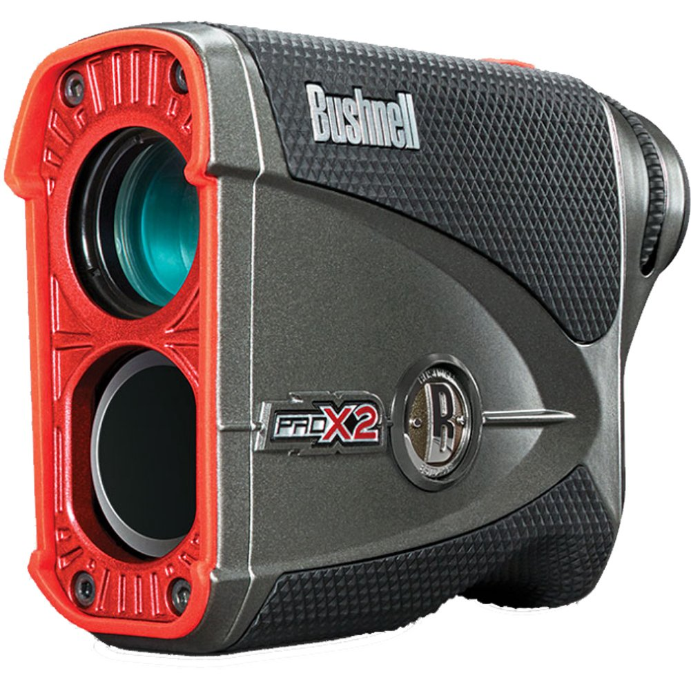 Bushnell Pro X2 Golf Laser Rangefinder GIFT BUNDLE | Includes Golf Rangefinder (Slope & Non-Slope Function) with Carrying Case(Clip included), Custom Ball Marker Hat Clip Set and Two (2) CR2 Batteries by Bushnell (Image #3)