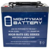 12V 55AH GEL Scooter Wheelchair Mobility Deep Cycle Battery - Mighty Max Battery brand product