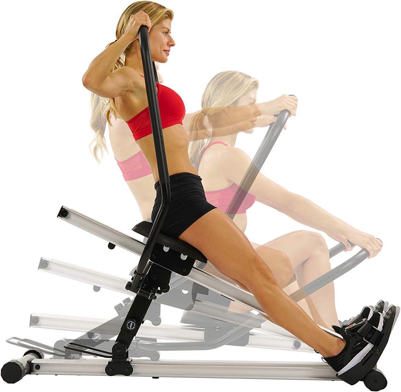 Sunny Health /& Fitness Unisex/ Schwarz Erwachsene SF-RW5720 Ruderger/äte Einheitsgr/ö/ße