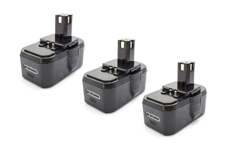 Garanzia del prezzo al 100% Vhbw 3x NiMH batteria 1300mAh (18V) per strumenti strumenti strumenti attrezzi utensili da lavoro come Ryobi BPP-1817 2, BPP-1817M, BPP-1820  forniamo il meglio