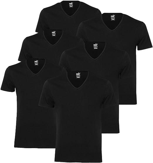 PUMA V NECK T Shirts 562002001 6er Pack: : Bekleidung