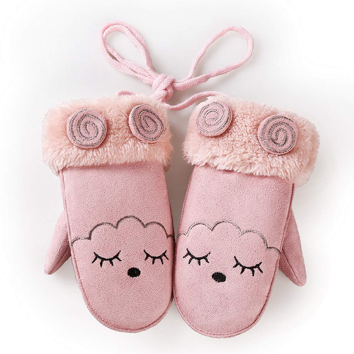 Ukerdo Gloves Children Winter Windproof Cold Weather Ski Gloves for Kids