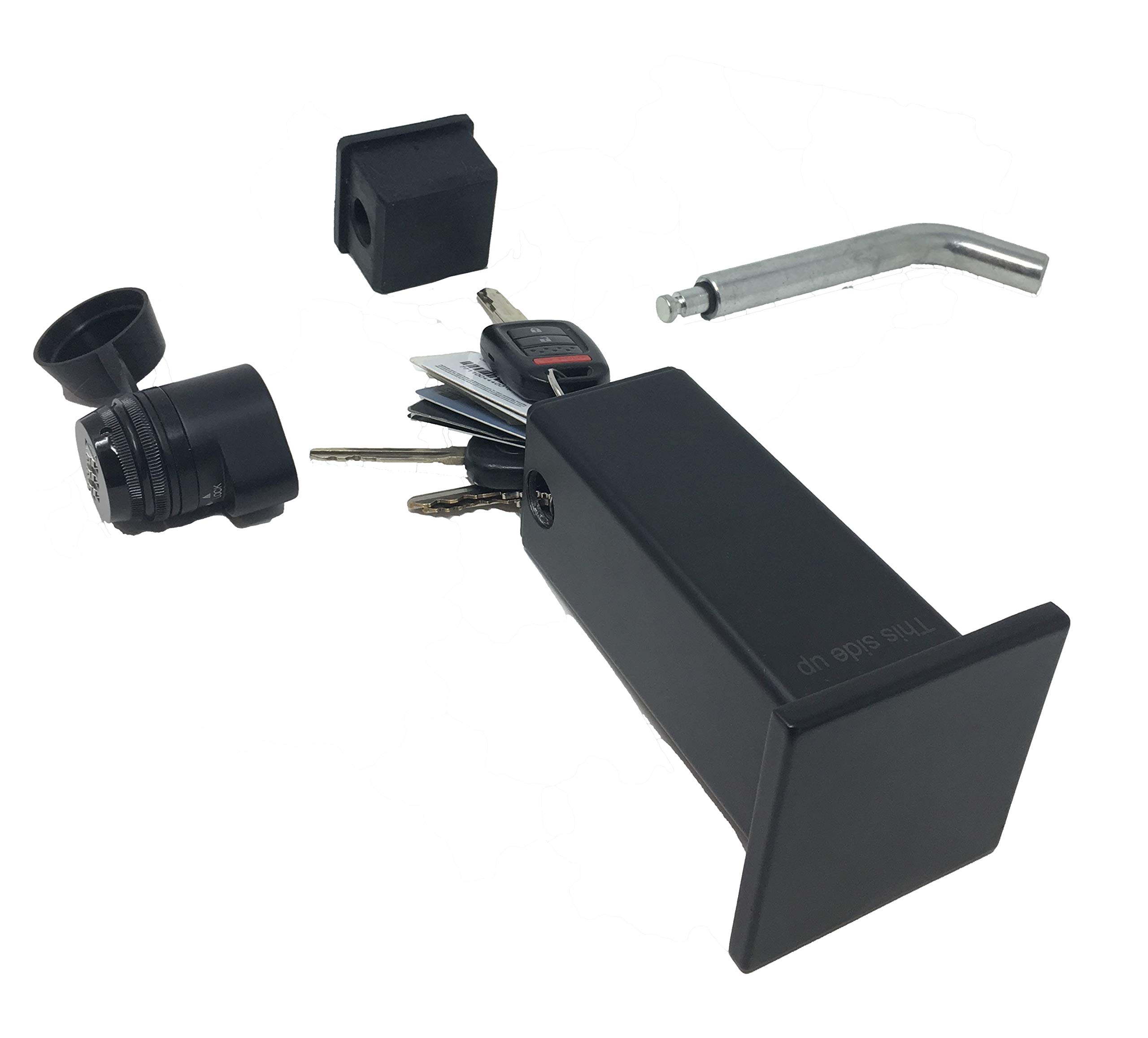 Beech Lane Locking Hitch Storage Box, Included Combo Lock Hitch Pin, Sturdy and Secure, Large Storage Space, Waterproof by Beech Lane