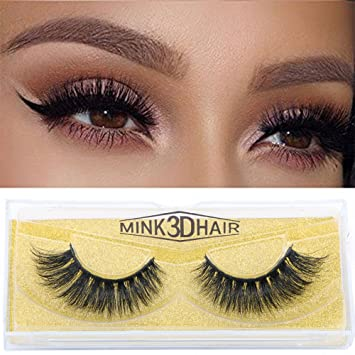 63f27694f2a Amazon.com : Anywhere Mink 3D Lashes Dramatic Makeup Strip Lashes 100%  Siberian Fur Fake Eyelashes Hand-made False Eyelash 1 Pair Package (3D  L-01) : Beauty