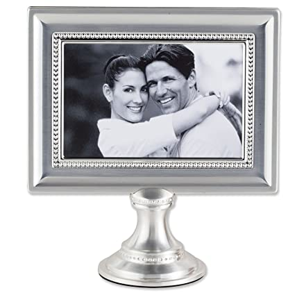 Amazon.com - Lawrence Frames 4 by 6-Inch Brushed Silver Plated Metal ...
