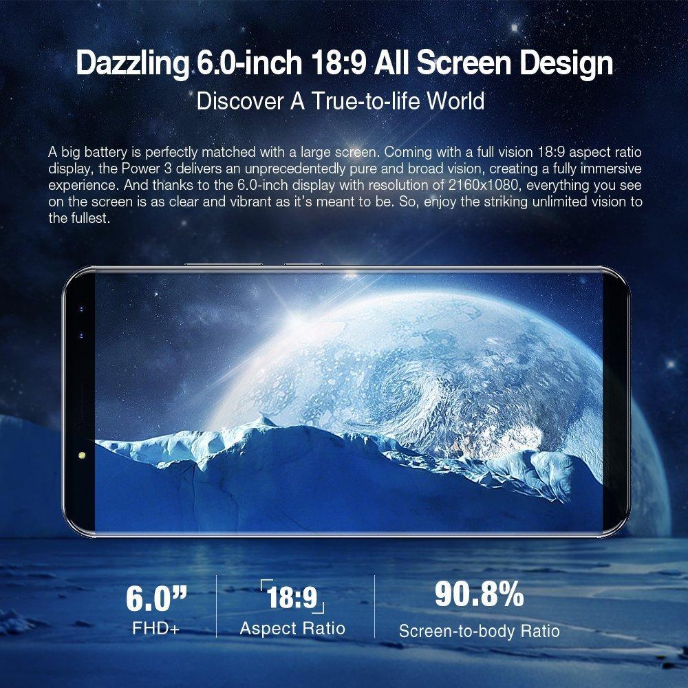 Ulefone Power 3 - 6,0 Zoll FHD 4G Phablet Android 7.1: Amazon.de: Elektronik