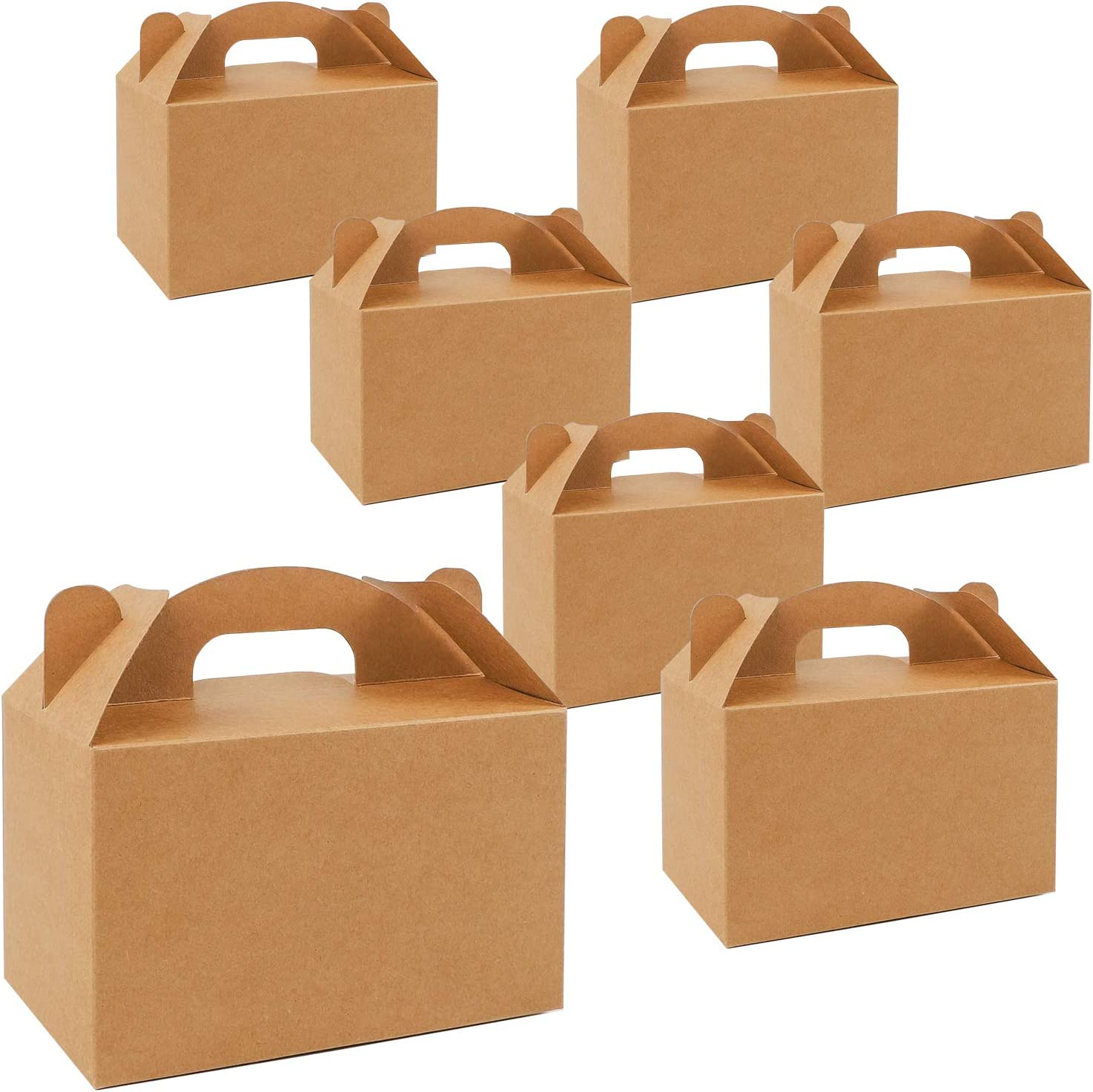Baby Shower 6.5x3.3x3.6 inches NICEWAY 30 Pack Brown Gable Gift Boxes Recycled Kraft Gift Box Candy Treat Boxes Small Goodie Gift Boxes Treat Boxes for Wedding Birthday Party
