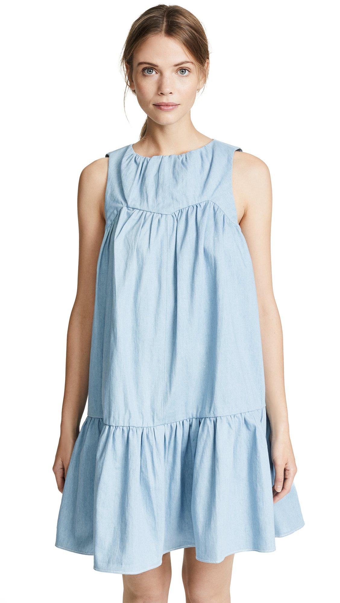 PAPER London Women's Dolce Denim Dress, Light Wash, 14