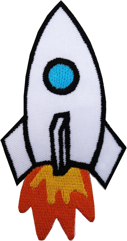 Rocket hierro en parche bordado Sew insignia en espacio Nasa camiseta chaqueta Insignia