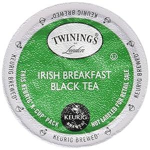 Twinings Irish Breakfast Tea K-Cups, 48 Count